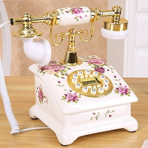 BZM-ZM 以下のためにホームデコレーションBのためにプッシュボタンで昔ながらのダイヤル番号を修正ダイヤルアンティーク電話古い固定自宅電話番号