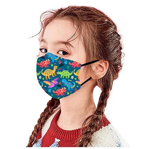 Kids Mouth/_Covering Kids T-Rex Dinosaur Print Back to School Cute /& Funny Bandanas for Children,Adjustable,Washable,Breathable Dust#Proof for Outdoors Activities,2PCS