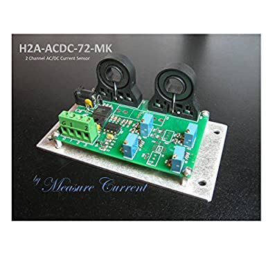 H2A-ACDC-72-MK 72 Amp adjustable 2 Channel ACDC Current Sensor Transducer Hall Effect C/T -8 to +8 Volts output with 12V - 24V power supply (Industrial / R&D) LabVIEW PLC computer