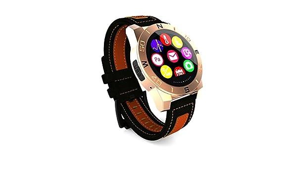 gx-bw100 Heart Rate Prueba thermoter IP67 Exterior Impermeable reloj inteligente para Android IOS, color dorado: Amazon.es: Deportes y aire libre