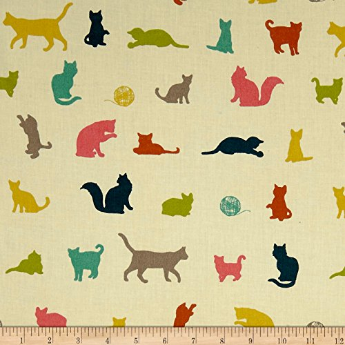 Birch Organic Farm Fresh The Chase Multi Fabric By The Yard (Birch Farm White)