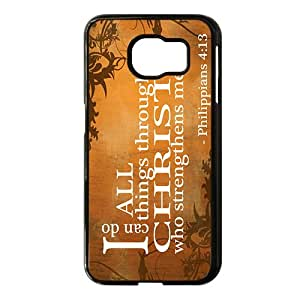 I Can Do All Things Through Christ Who Strengthens Me Black Phone Case for Samsung S6