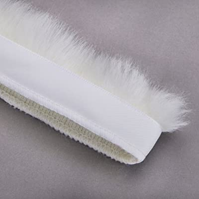 Artificial Fur Furry Ribbon Woolly Fringe Crafts For Costume Faux Fleecy Thick Pile Trim on Satin Ribbon Decoration.
