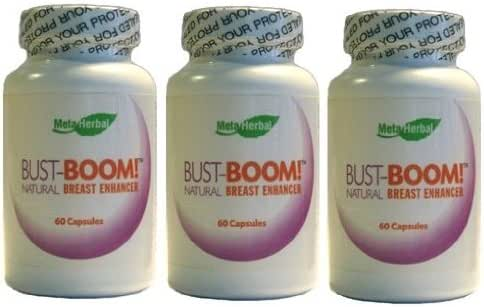 Bust-Boom! Breast Enlargement/Acne Pills - Female Sexual Enhancement - 3 Bottles