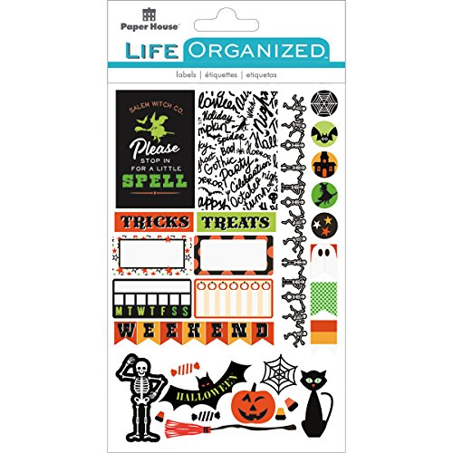 Paper House Productions Halloween Stickers, Planner, 3-Pack, -