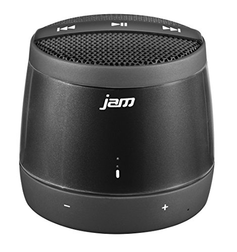 JAM Touch Wireless Portable Bluetooth Speaker, Built In Speaker, Voice Prompts, Capacitive Touch Controls on Speaker, Perfect for Dinner Parties, Outdoor BBQ, Rechargeable Battery, HX-P550BK Charcoal