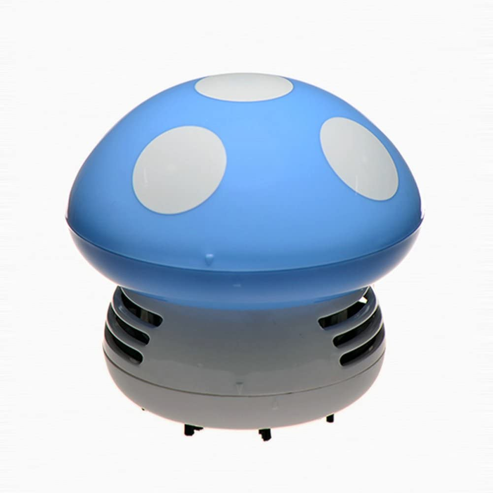 Aspirador para aspiradora de escritorio con aspiradora de mini seta para limpiar el polvo de la mesa y aspiradora azul: Amazon.es: Hogar