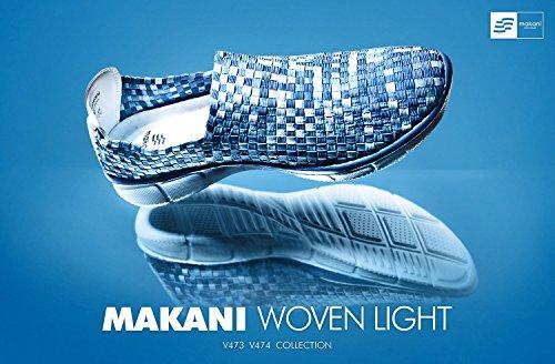 (マカニ) MAKANI 男女兼用?キッズサイズ有り 超軽量 ウーブン スリッポン スニーカー TESLA V473/V474 (13~29cm)