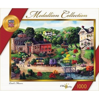 Master Pieces Medallion Collection Carol's Flowers Jigsaw Puzzle by Master Pieces