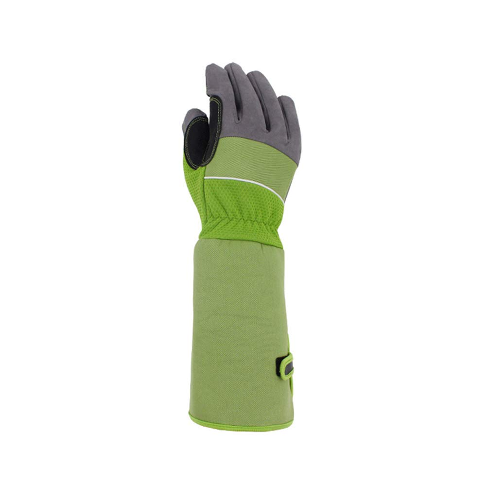 Crystalzhong Gardening Works Pruning Gloves Gardening Garden Canvas Gloves Non-Slip Wear-Resistant Safety Protection Labor Insurance Supplies Unisex Thorn and Cut Proof Gloves (Color : Green)