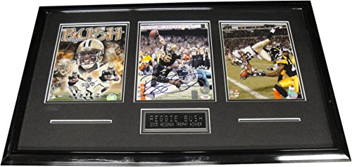 (Reggie Bush Hand Signed Autographed 8x10 Framed Photo W/ 2 8x10's Saints PSA/DNA)