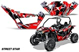 AMRRACING Arctic Cat Wildcat Sport XT Full Custom UTV Graphics Decal Kit Street Star Red
