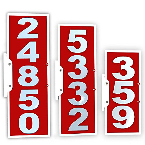 Plaque Mailbox (CIT Group Mailbox Address Plaque, Red Vertical, Reflective 911 Plate, Mailbox Topper. Most Visible Mailbox Address Marker on The Market!)