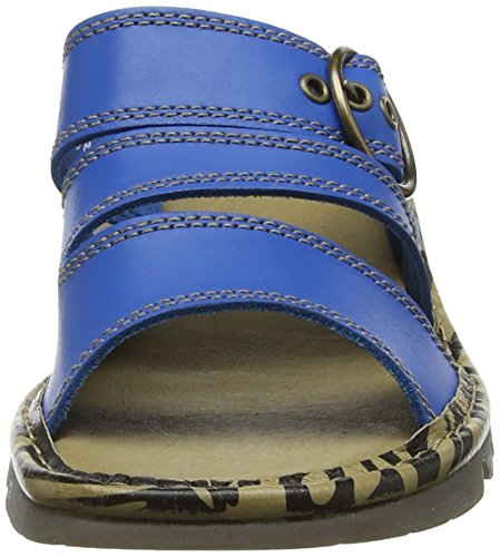 Descubierta para de Azul Fly Mujer Electric Blue Punta Sandalias London Thea724fly 7wWwqpaT