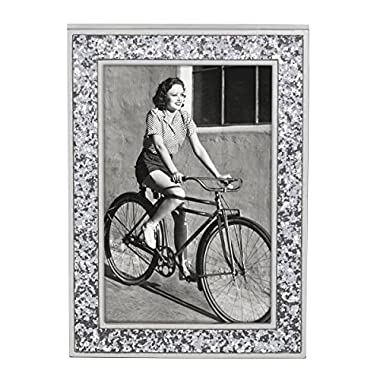 Kate Spade New York Simply Sparkling Silver Glitter 4  x 6  Picture Frame, 868792