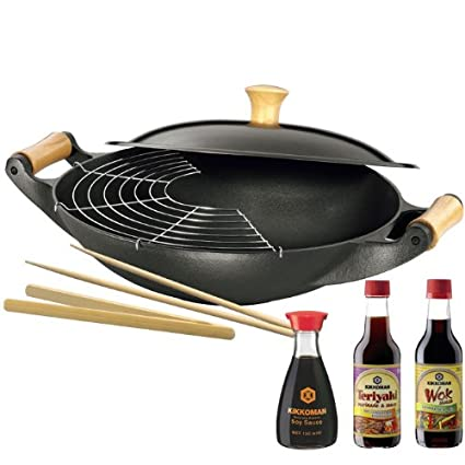 Silit 0082.2807.12 Wok Tai Pan con Especias y Kikkerland Omán salsas, 36 cm