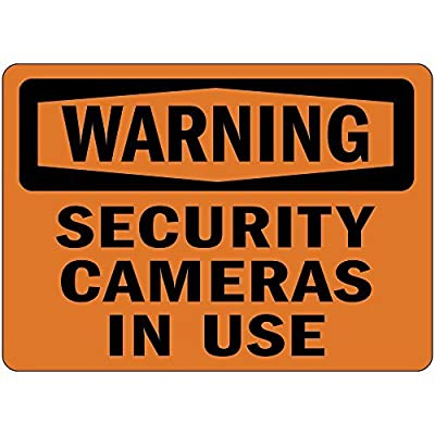 Personalized Metal Signs for Outdoors Warning Security Cameras In Use Osha Metal Aluminum Sign 12 X 16 Inch