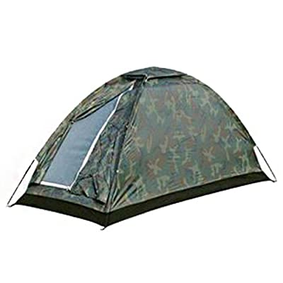 SZH&ZPT Camping camouflage Tente imperméable et respirant pour une personne seule randonnée en plein air Voyages