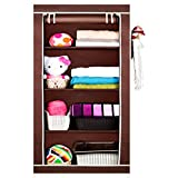 PRO365 Economical Brown Wardrobe With Dust Protection 5.3 Ft.