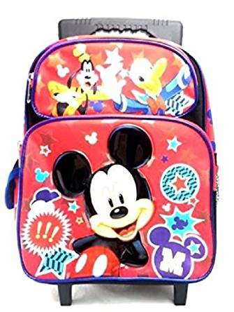 6c48953d65 Image Unavailable. Image not available for. Color  Disney Mickey Mouse    Friends 12 quot  Small Toddler Canvas Red   Blue Rolling Backpack