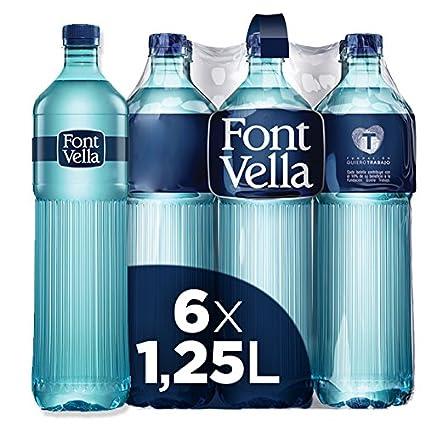 Font Vella Agua Mineral Premium - Pack de 6 x 1,25L: Amazon.es ...