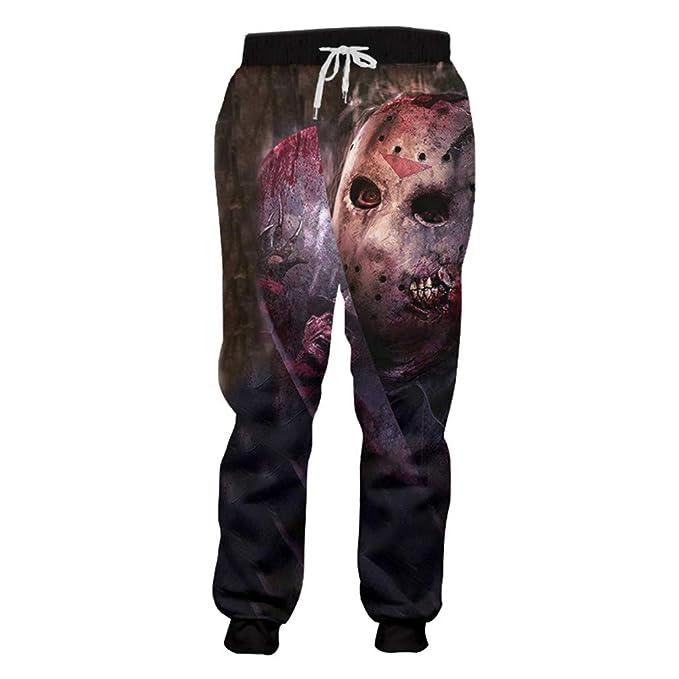 Amazon.com Style Sweatpants Men\u0027s 3D Print Blood Skull