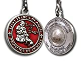 The Christian Mint, LLC St. Francis of Assisi Enameled Pet Medal with Capsule of Assisi Soil (Red)