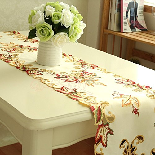 B-COOL Embroidered Cutwork Table runner for party wedding Banquet 13 by 68-Inch (Embroidery Table Runner)