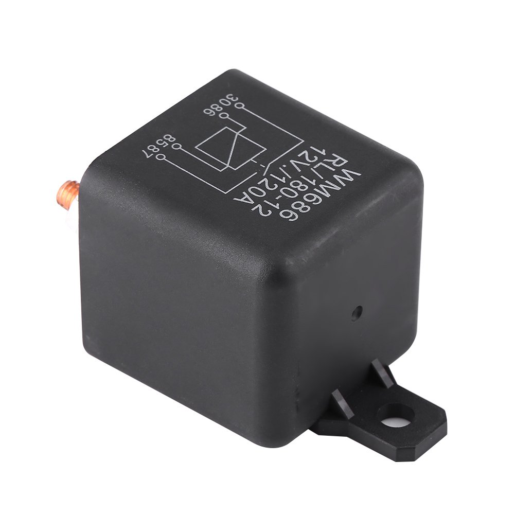 12V 120A Car Relay 4 Pin Heavy Duty Split Charge ON//OFF Relay Black Box Battery Vehicle Van Boat