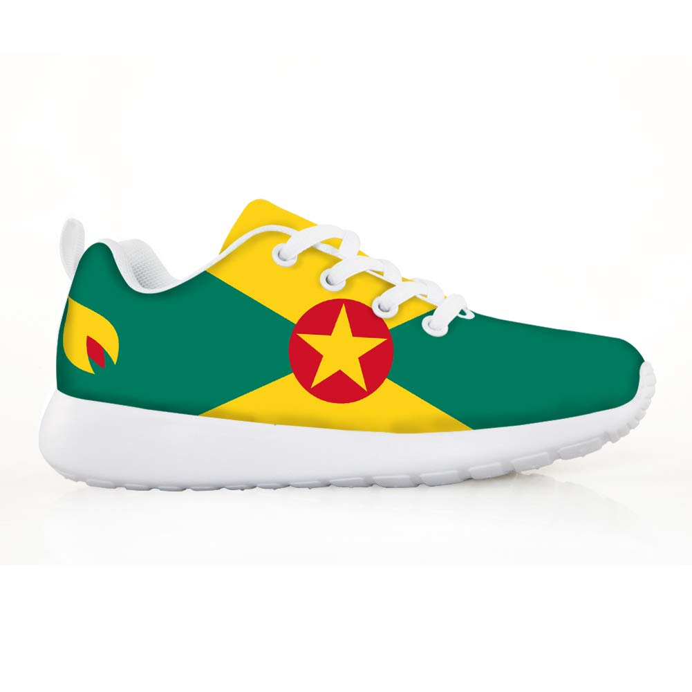Owaheson Boys Girls Casual Lace-up Sneakers Running Shoes Grenada Flag