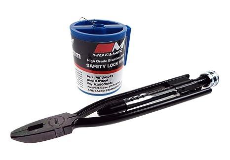 motamec 9 Inch bloqueo de seguridad Wire Alicates de torsión & 0,81 mm Lock
