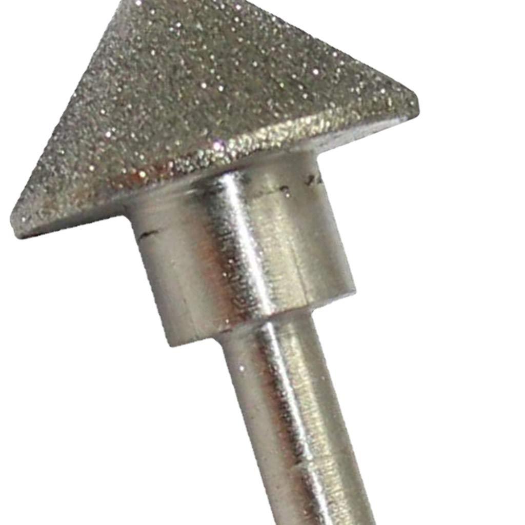 B Blesiya Konischer Nase Schleifkopf Fr/ässtifte Schleifstifte f/ür Rotationswerkzeuge 8mm Schaft 20 mm Durchmesser