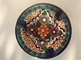Talavera Ceramic Ashtray 4 1/2'' Modern Art Design Authentic Puebla Mexico Pottery Hand Painted Design Vivid Colorful Art Decor Signed [Orange Dots]