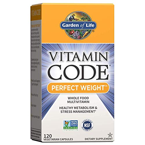 Garden of Life Vitamin Code Perfect Weight Multivitamin for Women and Men, Healthy Active Metabolism, Stress Management…