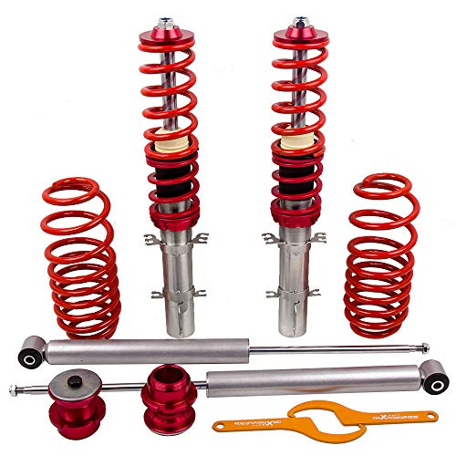 Golf Jetta New Beetle - maXpeedingrods Coilovers Lowering Mounts for VW Golf MK4 / Jetta MK4 / Audi A3 MK1 / New Beetle 1997-2010 1.4 1.6 1.8T 2.0 - Red