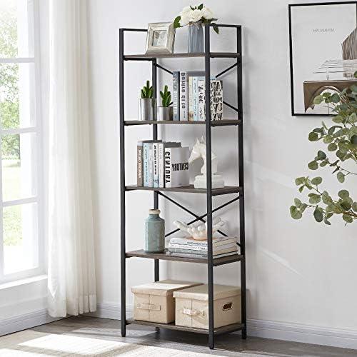 OIAHOMY Industrial Bookshelf - a good cheap modern bookcase