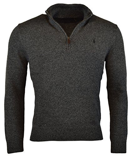 Polo Ralph Lauren Men's Half-Zip Mockneck Sweater, S, - Lauren Discount Ralph