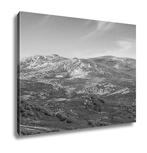 Ashley Canvas The Majestic View Towards Mount Kosciuszko From Charlotte Pass Lookout On A, Home Office, Ready to Hang, Black/White 20x25, AG6347836 (Track Scenic Ridge)