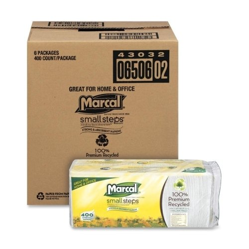 (Marcal 6506CT Luncheon Napkin, Single-Ply, 12-1/2