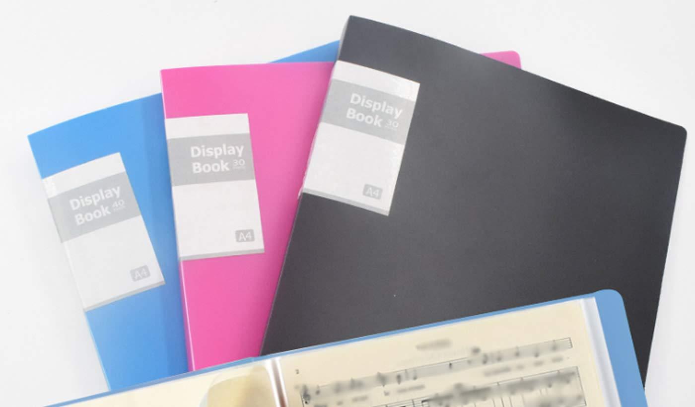 casa TKD8017-3x 3x Set di 3 in 3 colori per 240 Foglietti un totale 120 Tasche trasparenti scuola per ufficio PP Portalistino A4 Presentazione e cartelle portadocumenti TUKA-i-AKUT