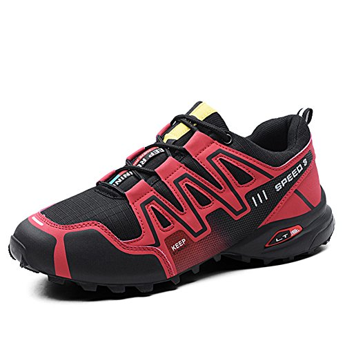 982f48bff GOMNEAR Mens Hiking Shoes Trekking Outdoor Non Slip Lace-up Lightweight  Climbing Running Walking Sneakers