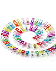 50pcs Sewing Clips for Fabric Colorful Plastic Wander Clips Sewing Quilting Crafting Knitting Premium Quilting Clips Cable Clip Assorted Clips Magic Binding Clips