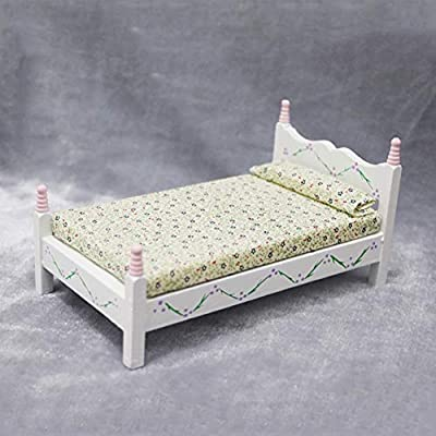 NarutoSak Doll House Accessories,1/12 Doll House Miniature Wooden Bed Living Room Furniture Accessories Decor, Doll House Furnishings, Christmas Birthday Gift for Girl: Kitchen & Dining