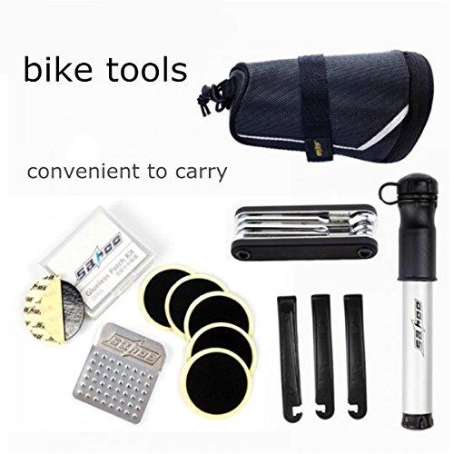 OUTERDO Neu Fahrrad Werkzeug Set Fahrradwerkzeug Fahrrad Multitool Reparaturset Mit Fahrrad Satteltasche Toolkit