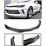 Extreme Online Store for 2016-2018 Chevrolet Camaro RS Models | EOS T6 Style ABS Plastic Primer Black Add On Front Bumper Lower Lip Splitter with Carbon Fiber Side End Cap