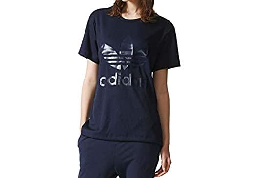 adidas Damen BF TRF Tee T Shirts Blau, 30: : Bekleidung