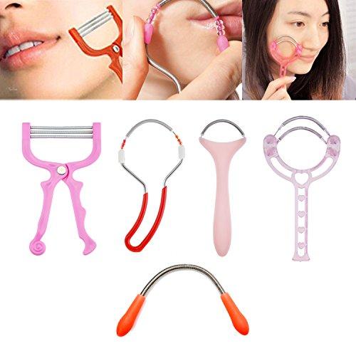 Ensemble de 5 pour enlever les poils du visage / outils épilateurs