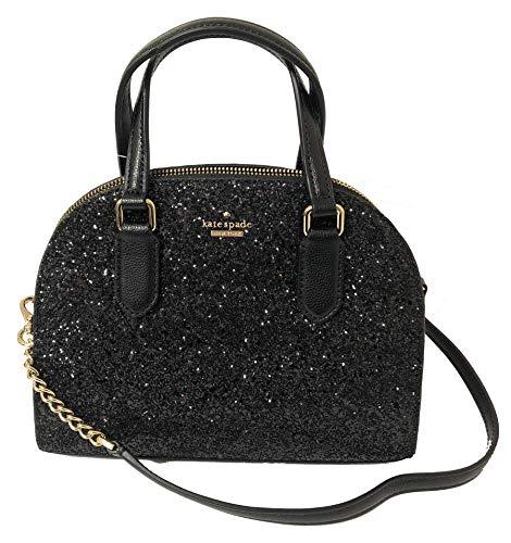 - Kate Spade Laurel Way Glitter Mini Reiley Crossbody Handbag (Black)