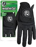 FootJoy Men's WeatherSof Golf Gloves Black Cadet Small