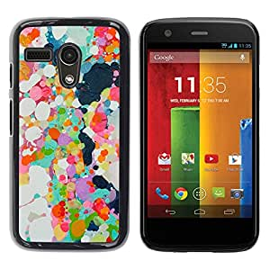 Paccase / SLIM PC / Aliminium Casa Carcasa Funda Case Cover para - Abstract Paint Oil Spots Colorful Spring - Motorola Moto G 1 1ST Gen I X1032